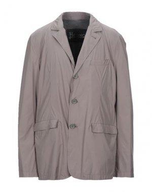 Пиджак HERNO. Цвет: голубиный серый