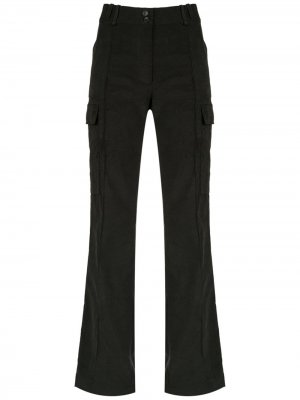 Flared cargo trousers Gloria Coelho. Цвет: черный
