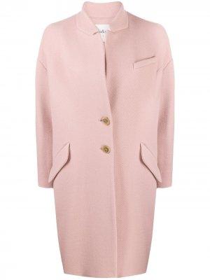Саржевое пальто Boris Ba&Sh. Цвет: розовый