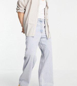 Синие расклешенные джинсы COLLUSION x008-Голубой