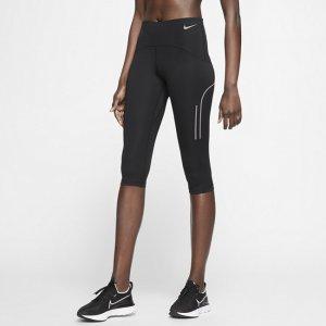 Женские беговые капри со средней посадкой Speed - Черный Nike