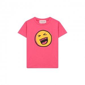 Хлопковая футболка Natasha Zinko. Цвет: розовый