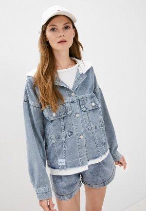 Куртка джинсовая Fadjo. Цвет: синий