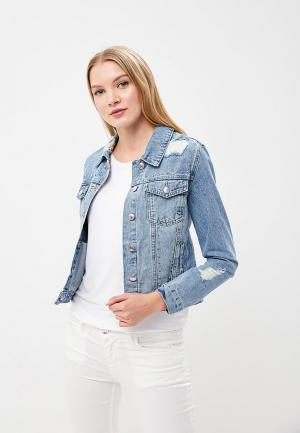 Куртка джинсовая Urban Bliss UR007EWAXPC7. Цвет: голубой