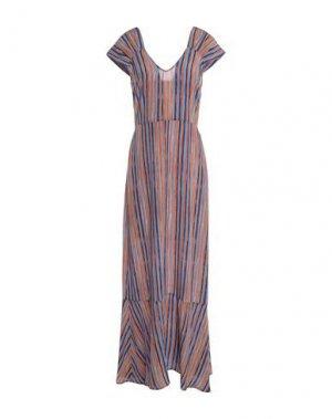Длинное платье ATTIC AND BARN. Цвет: коричневый