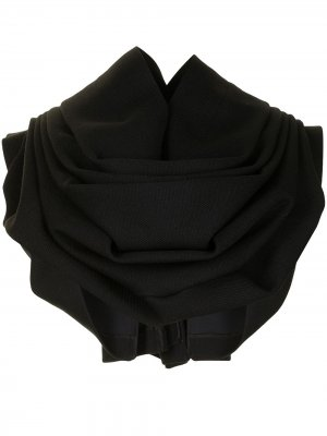 Многослойный кейп асимметричного кроя Comme Des Garçons. Цвет: черный