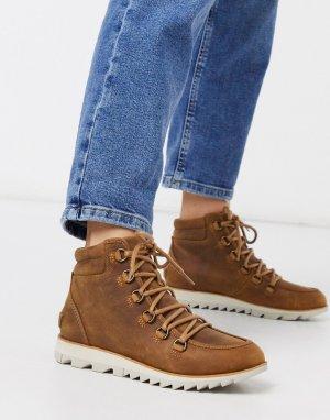 Светло-коричневые водонепроницаемые ботинки со шнуровкой -Светло-коричневый Sorel