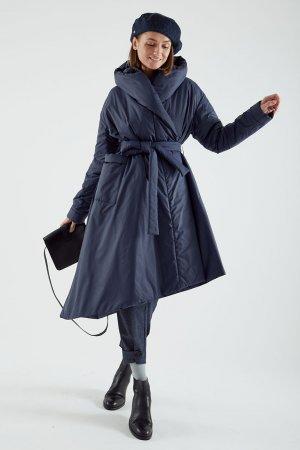 Пальто-накидка ЧЕРЕШНЯ. Цвет: синий