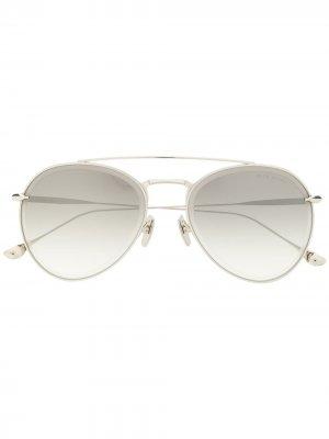Солнцезащитные очки-авиаторы Axial Dita Eyewear. Цвет: серебристый