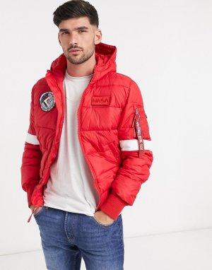 Красная нейлоновая куртка 328-Красный Alpha Industries