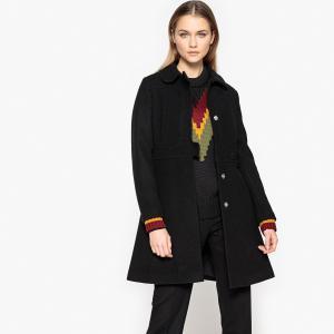 Пальто длинное JOUR/NÉ X LA REDOUTE. Цвет: красный,черный