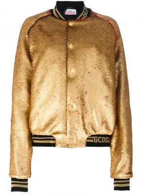 Куртка-бомбер с пайетками Gcds. Цвет: металлический