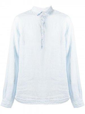 Рубашка с длинными рукавами Barena. Цвет: синий