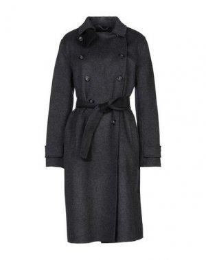 Пальто MANILA GRACE. Цвет: свинцово-серый