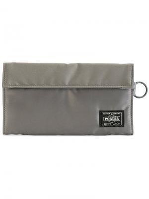Удлиненный бумажник Tanker Porter-Yoshida & Co. Цвет: серый