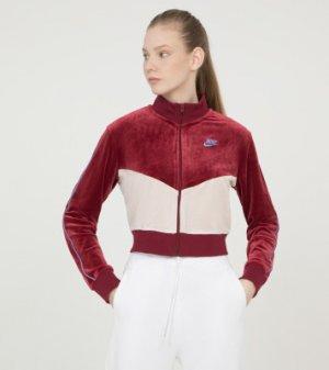 Олимпийка женская Heritage, размер 48-50 Nike. Цвет: красный