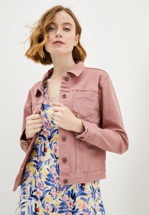 Куртка джинсовая Savage. Цвет: розовый