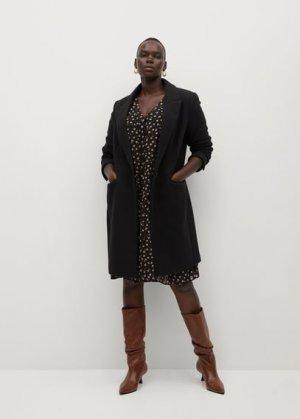 Структурированное пальто из шерсти - Basic7 Mango. Цвет: черный