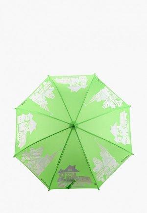 Зонт-трость Flioraj. Цвет: зеленый