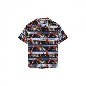 Хлопковая рубашка Dolce & Gabbana. Цвет: синий