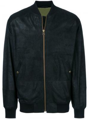 Куртка-бомбер со слоганом на спине Mr & Mrs Italy. Цвет: черный