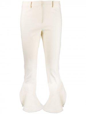 Укороченные саржевые брюки клеш Daria с оборками Derek Lam 10 Crosby. Цвет: нейтральные цвета