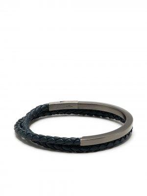 Серебряный браслет Nature Noir Tateossian. Цвет: синий