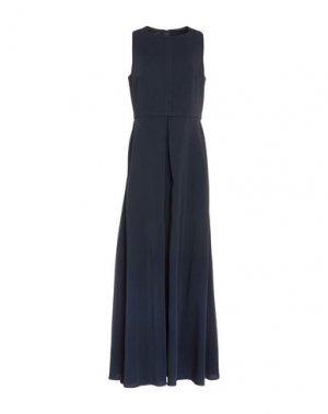 Длинное платье LES COPAINS. Цвет: темно-синий
