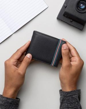 Черный кошелек с эластичным ремешком New Look. Цвет: черный