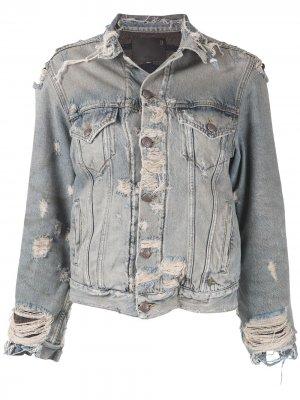Джинсовая куртка с прорезями R13