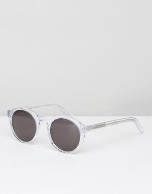 Солнцезащитные очки в круглой прозрачной оправе Monokel Eyewear. Цвет: очистить