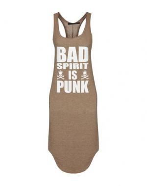 Платье до колена BAD SPIRIT. Цвет: светло-коричневый