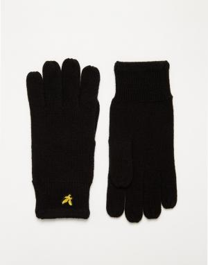 Перчатки в рубчик Lyle & Scott. Цвет: черный