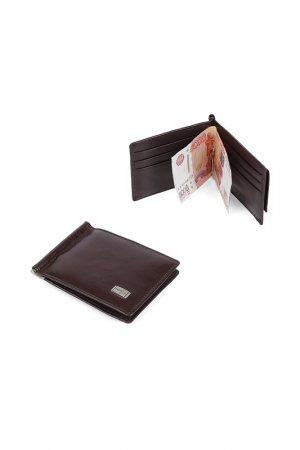 Зажим для денег Fabretti. Цвет: коричневый