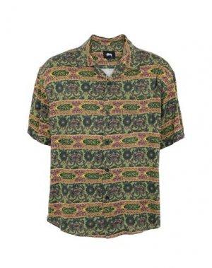 Pубашка STUSSY. Цвет: зеленый