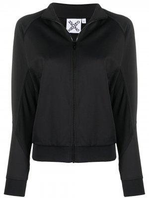 Спортивная куртка с логотипом Kenzo. Цвет: черный