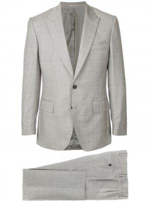 Formal slim suit Gieves & Hawkes. Цвет: коричневый