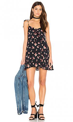 Платье-майка cherry For Love & Lemons. Цвет: черный