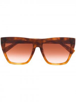 Солнцезащитные очки Anita I/V в массивной оправе Max Mara. Цвет: коричневый