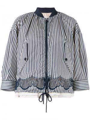 Striped jacket Moncler. Цвет: белый