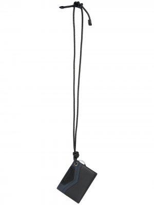 Картхолдер с ремешком на шею Givenchy. Цвет: черный