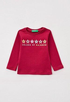 Лонгслив United Colors of Benetton. Цвет: красный