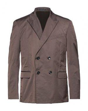 Пиджак VALENTINO. Цвет: темно-коричневый