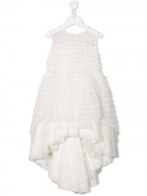 Платье асимметричного кроя с оборками Aletta