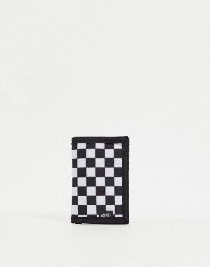 Черно-белый бумажник с шахматным узором -Черный Vans