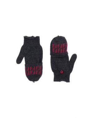 Перчатки FENDI. Цвет: серый