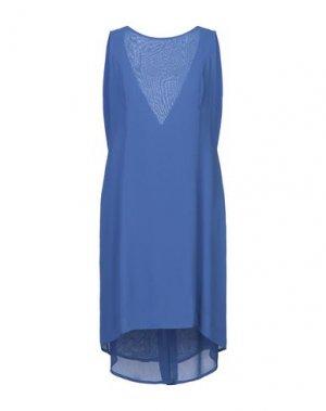 Короткое платье ANIYE BY. Цвет: синий