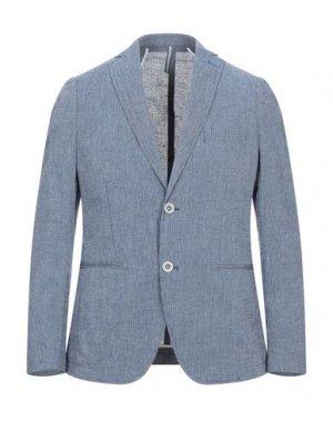 Пиджак SSEINSE. Цвет: синий