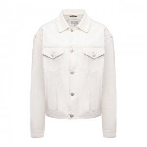 Джинсовая куртка Maison Margiela. Цвет: белый