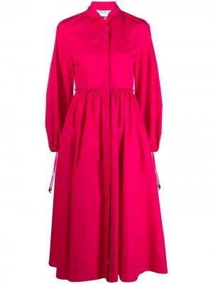 Платье-рубашка с рукавами бишоп Max Mara. Цвет: розовый